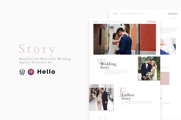 Story - Wedding Elementor Template Kit - Weddings Elementor