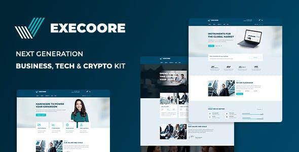 Execoore - Tech & Fintech Crypto Elementor Template Kit