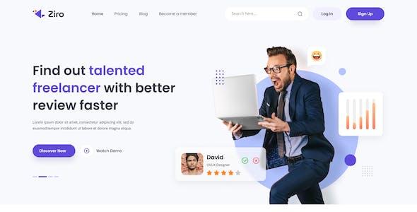 Ziro - Freelancer Directory Website Design Template Figma