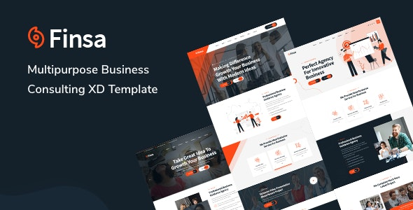 Finsa - Consultancy & Business XD Template - Business Corporate