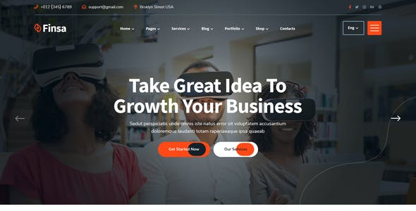 Finsa - Consultancy & Business XD Template