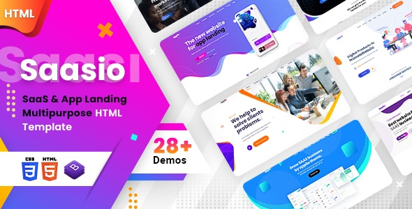 SaaSio - One Page SaaS - Technology Site Templates