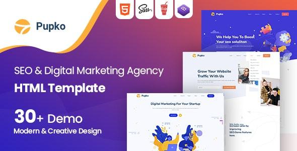 Pupko - Seo and Digital Marketing Agency HTML Template - Software Technology