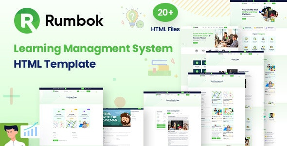 Rumbok - Learning Management System Bootstrap Template - Business Corporate