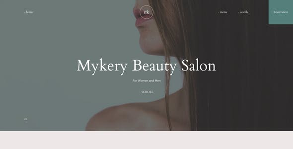 Mykery - Beauty Salon PSD Template