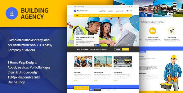 Building Agency - Construction Template - Business Corporate