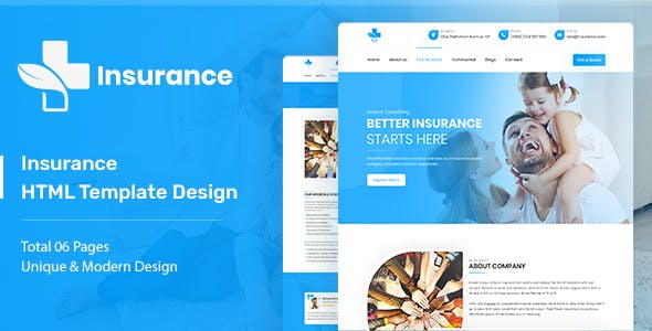Insurance - Agency & Business HTML5 Template