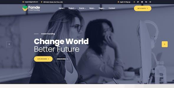 Fande - Crowdfunding & Charity PSD Template