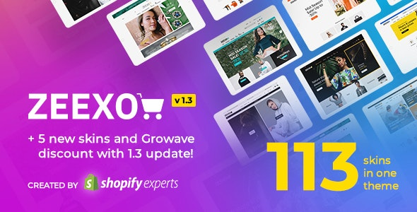 Zeexo - Multipurpose Shopify Theme - Multi languages & RTL support - Fashion Shopify