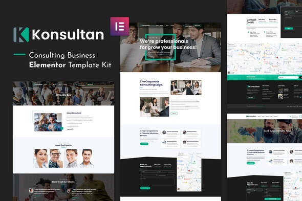 Konsultan Kit - Consulting Business Elementor Template Kit - Business & Services Elementor