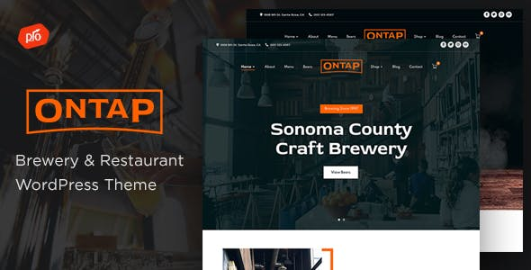 Ontap - Brewery & Restaurant Theme