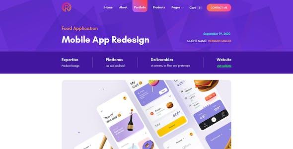 Readora - Portfolio PSD template