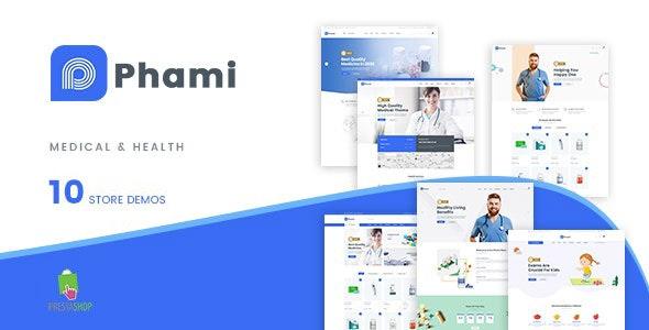 Phami - Medical & Health Stores Prestashop Theme - Health & Beauty PrestaShop