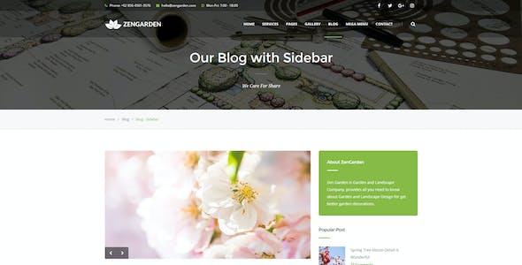 Zen Garden - Garden and Landscape HTML Template