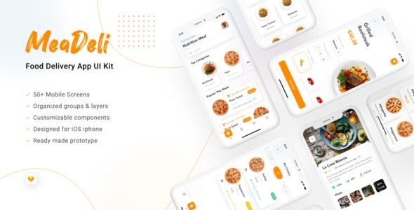 MeaDeli - Food delivery app UI Kit - UI Templates