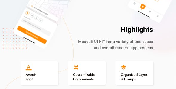 MeaDeli - Food delivery app UI Kit