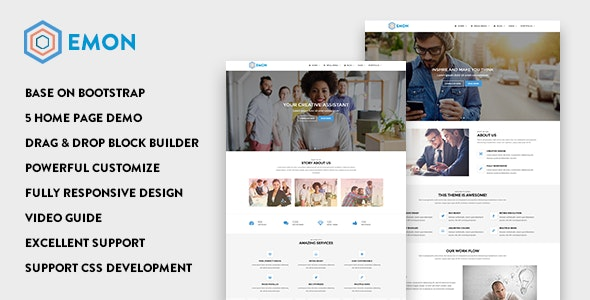 Emon - Responsive Business Drupal 9 Theme - Business Corporate