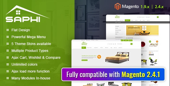 Saphi - Responsive Magento 2 and 1.9 Theme - Magento eCommerce