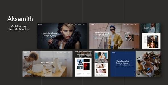 Aksamith - Multi-Concept Website Template - Creative Site Templates