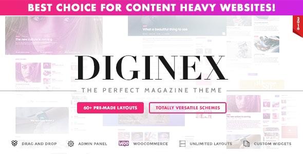 Diginex - Magazine, Blog, News and Viral WordPress Theme - Blog / Magazine WordPress