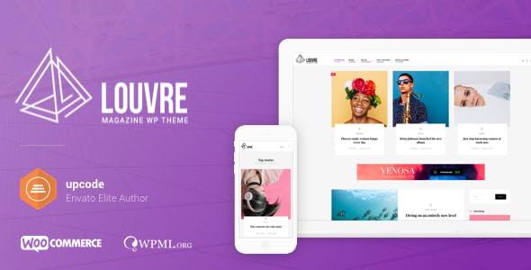 Louvre - Minimal Magazine and Blog WordPress Theme