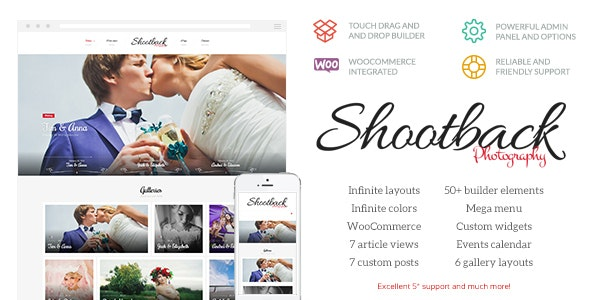 Shootback - Retina Photography WordPress Theme - Photography Creative