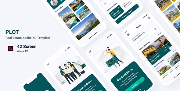 Plot - Real Estate Adobe XD Template - Corporate Adobe XD