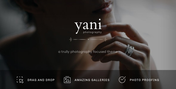 Yani - Clean and Minimalist Photography WordPress Theme - Photography Creative