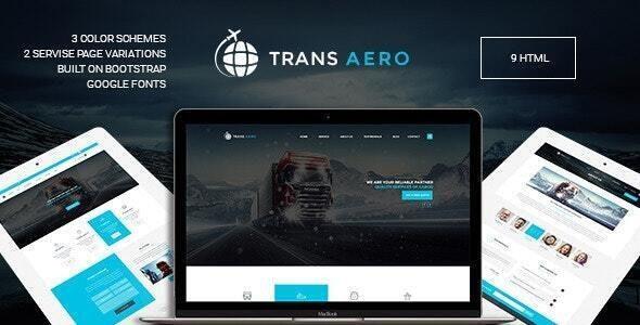 TransAero - Logistics HTML  Template - Business Corporate