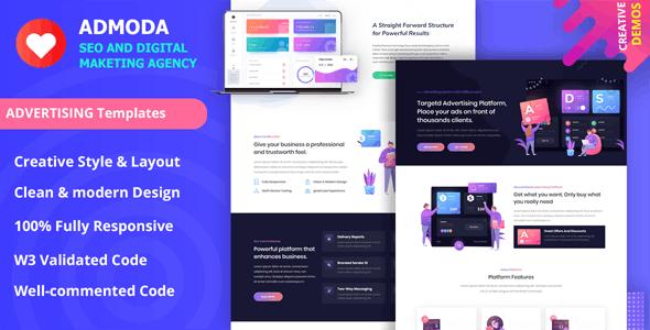 Admoda - SEO & Digital Marketing Agency Template - Marketing Corporate