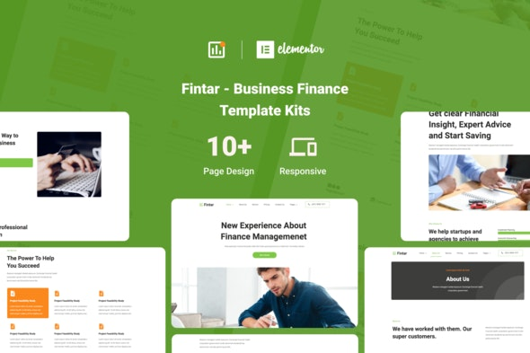Fintar - Finance Management Elementor Template Kit - Finance & Law Elementor