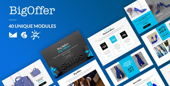 BigOffer Email-Template + Online Builder - Newsletters Email Templates