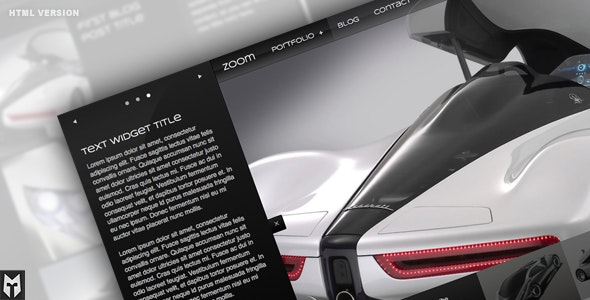 Zoom Premium HTML Portfolio + Blog - Photography Creative