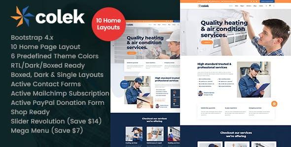 Colek - Air Conditioning Repair HTML