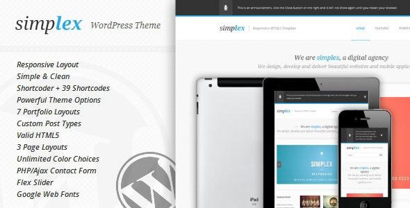 Simplex - Responsive WordPress Theme - Portfolio Creative