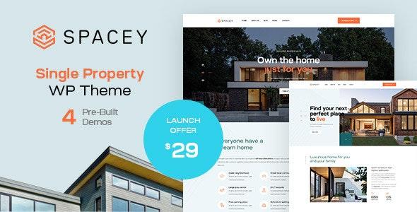 Spacey - Single Property WordPress Theme - Real Estate WordPress
