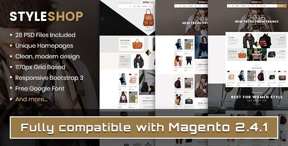 Styleshop - Responsive Multipurpose Magento 2.x Theme - Shopping Magento