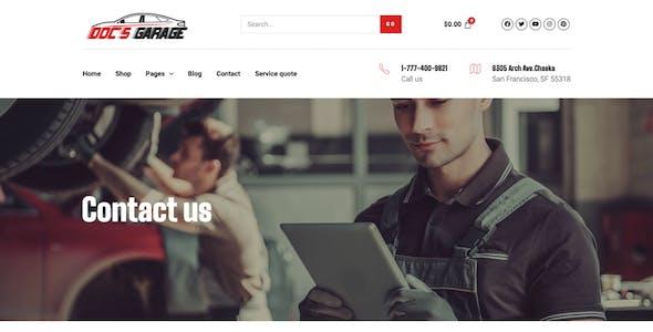 Doc's Garage – Car Repair Services Elementor Template kit