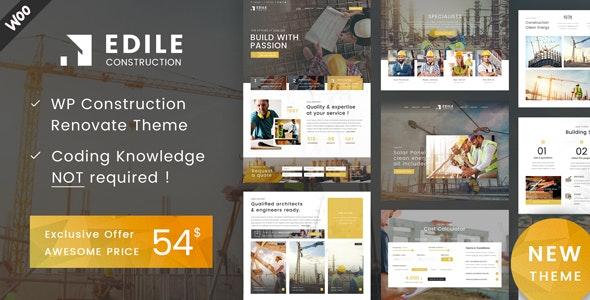 Edile - Construction WordPress - Business Corporate