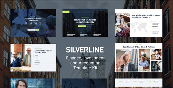 Silverline – Finance & Investment Elementor Template Kit