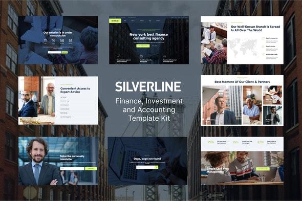 Silverline – Finance & Investment Elementor Template Kit - Business & Services Elementor