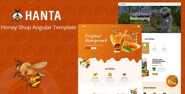 Hanta -  Angular 10 Beekeeping and Honey Shop Template - Food Retail