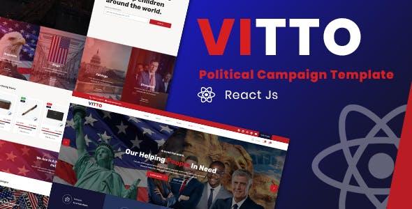 Vitto | Political Campaign React Template