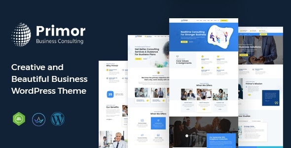 Primor - Business Consulting WordPress Theme - Business Corporate