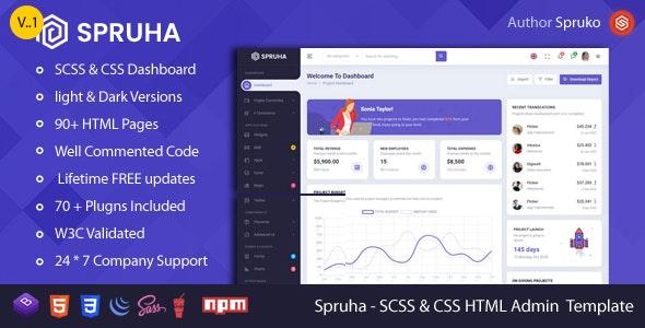 Spruha - HTML Dashboard Template - Admin Templates Site Templates