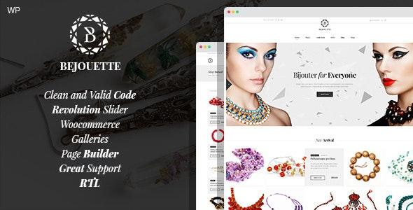 Bejouette - Handmade Jewelry Designer WordPress Theme - Art Creative