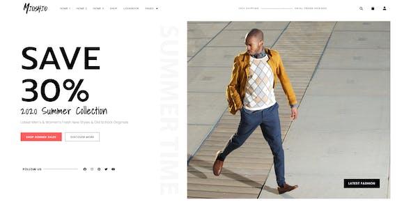 Mioshio - Fashion eCommerce Elementor Template Kit