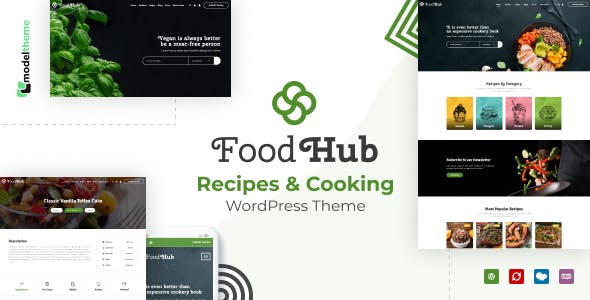 Foodhub - Recipes WordPress Theme