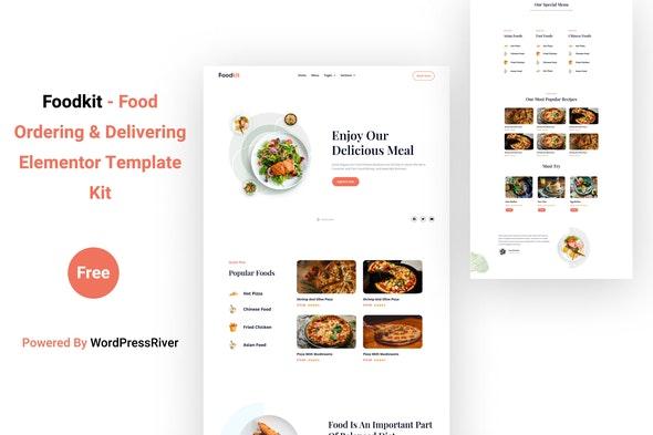 Foodkit - Food Ordering & Delivering Elementor Template Kit - Food & Drink Elementor