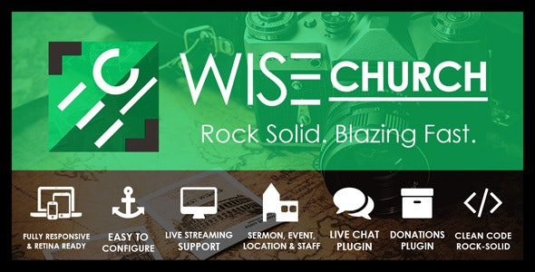 Wise Church | Multi-Purpose Online Ministry WordPress Theme - Churches Nonprofit